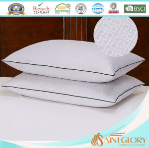 Hot Sale White Pure Cotton Pillow Protector Embossed Pillow Cover pictures & photos
