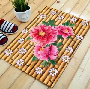 Printed Polyester Mat with PVC Backing pictures & photos