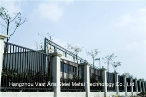 Haohan Simple Industrial Residential Galvanized Steel Flat Top Fence 75 pictures & photos