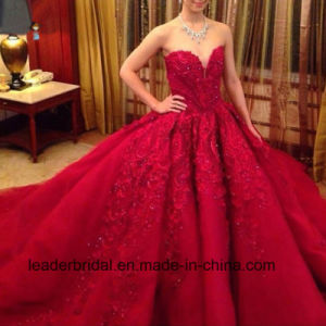 Luxury Ball Gowns Embroidery Red Wedding Bridal Dresses Z2012 pictures & photos
