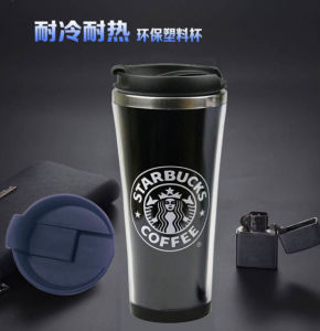 Promotional Flower Paper Insert Coffee Mug with Double Wall Tumbler Stainless pictures & photos