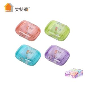 Metka Household Plastic Square Soap Box Soap Dish for Bathroom pictures & photos