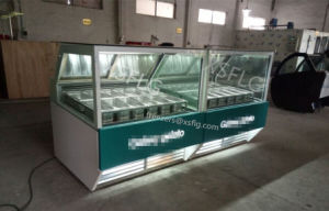 Ice Cream Showcase /Gelato Display Freezers pictures & photos