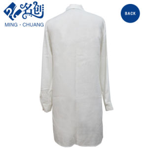 White Long Sleeve Thin Button Slim Sexy Women Summer Dress pictures & photos