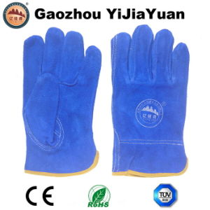 Ab Grade Cow Split Leather Working Industral Driving Gloves pictures & photos