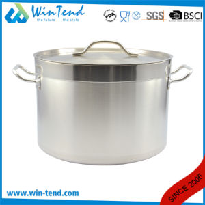 04 Style Stainless Steel Kitchen Equipment Steamer Induction Stock Pot with Sandwich Bottom pictures & photos