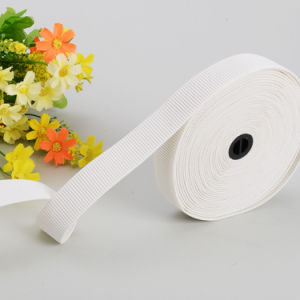High Quality Pure White Woven Elastic Tape pictures & photos