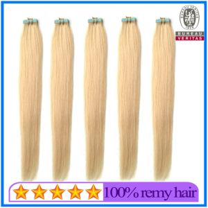 613 Blonde Color European Hair Silky Straight Tape Hair Extension pictures & photos