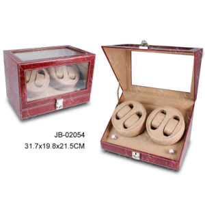 Double Watch Box Online Leather Storage Box Auto Watch Winder pictures & photos