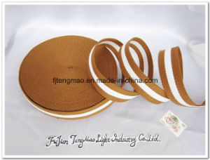 Brown White Cotton Webbing pictures & photos