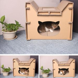 Paper Animal Furniture Comfortable Cardboard Cat Scratch House pictures & photos