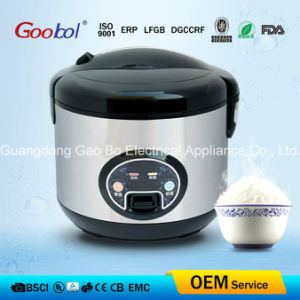 Stainless Stainless, Black Lid & Bottme Deluxe Rice Cooker pictures & photos