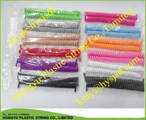 Curly Elastic Lace/Spring Elastic Shoelace/No Tie Shoelace pictures & photos