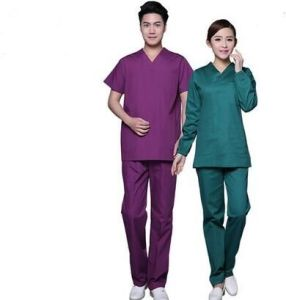 Medical Uniform Cotton Blue/Purple Avaiable pictures & photos