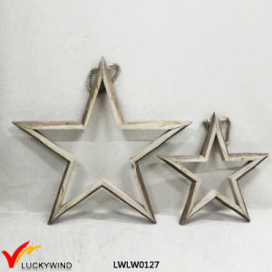 Vintage Decorative Hanging Wooden Star Home Decoration pictures & photos