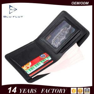 Fashion Genuine Grain Red Leather Mini Pocket Wallet Purse Men pictures & photos