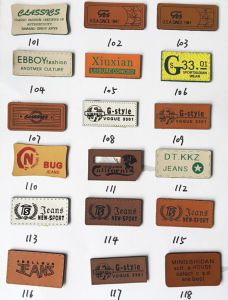 Customized Leather Labels for Jeans pictures & photos