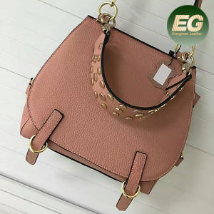 New Design Leather Handbag Studded Fashion Lady Messenger Bags Emg4817 pictures & photos