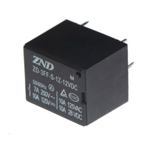 T73 (3FF) Power Relay 7A 12V Electromagnetic Relay 4pins pictures & photos