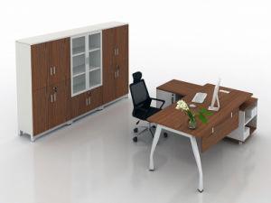 Oak Color Metal Steel Leg Desk Wooden Office Table (HX-AD8022) pictures & photos