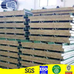 Wall / roofing steel color 50mm PU-ROCKWOOL sandwich Panel / Polyurethane board pictures & photos