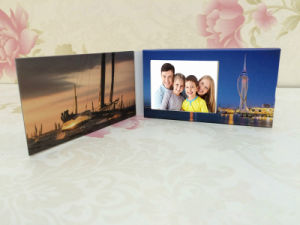 Customized 2.4 Inch Paper Business LCD Video Player Brochure Card with Built in Memory for Christmas Halloween Day pictures & photos