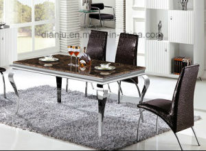 Simple Silvery Style Modern Square Dining Room Table (A8037) pictures & photos