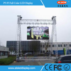 Adjustable P5.95 Full Color Curved Rental LED Screen for Outdoor pictures & photos