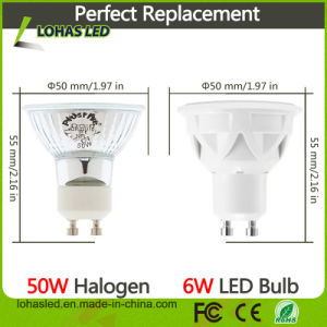 LED Light Dimmable 86-265V AC GU10 5W 6W 7W Cold White LED Spotlight Bulb pictures & photos
