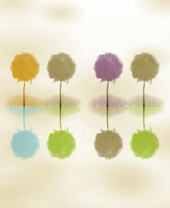 Cheap Price Wholesale Digital Printed Colorful Tree Series for Home Decoration pictures & photos