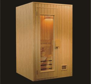 1200mm Solid Wood Sauna for 2 Persons (AT-8619) pictures & photos