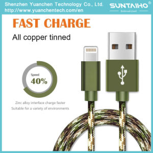 New Arrival Nylon Braided Data Charging Cable for iPhone 5/6/7 pictures & photos