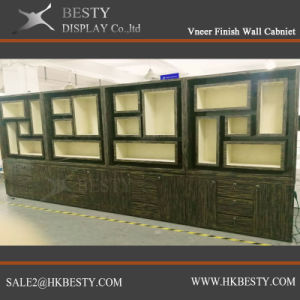 Veneer Finish Wall Cabinet Jewelry Display Showcase pictures & photos