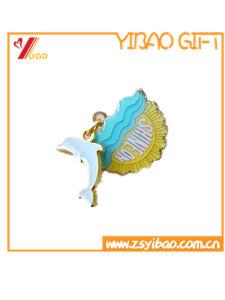 Custom School Black Color Soft Enamel Lapel Pins/Metal Pin Metal Badge 3D Pin Safety Pin (YB-HD-137) pictures & photos