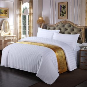 Factory Supplier 4PCS Luxury Hotel Stripe Bedding Sets for Malaysia (WS-2016084)