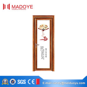 Classic Design Insulating Glass Bathroom Door with Decorative Pattern pictures & photos