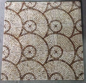 Mosaic Floor Tile, Round Pattern Marble Stone Mosaic pictures & photos