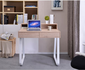 Simple Study Desk with Hutch in Wooden Shape for Student pictures & photos
