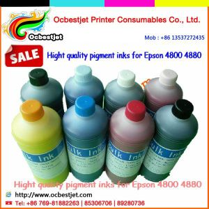8colors Premium Quality Refill Pigment Ink for Epson 4880, Pigment Ink Refill Cartridge