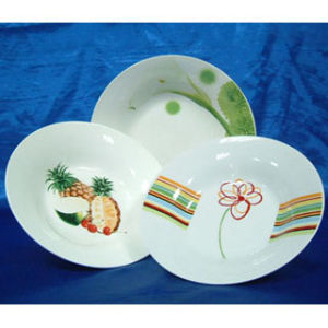 Porcelain Round Soup Plate - Decor (PLA70102)