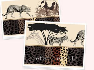 Wild Animals Polyester Fabric