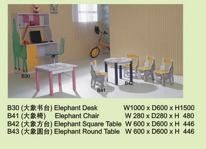 Elephant Table and Chairs