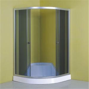 Bathroom Chrome Frame Sliding Grey Glass Shower Room 90 pictures & photos