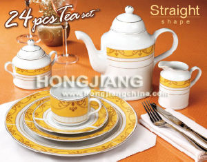 Porcelain 24pcs Tea Set (66208#)
