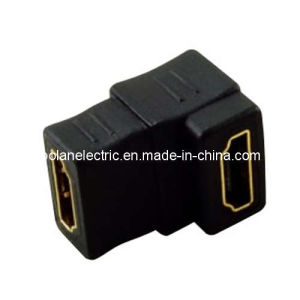 90 Degree Female to Female HDMI Adapter pictures & photos
