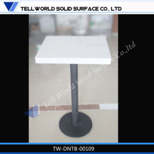 Modern Design White Gloss Corian Square Restaurant Dining Table pictures & photos