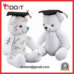 White Autograph Teddy Bear for Graduation Gift pictures & photos