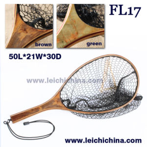 Small burl wood hand fly fishing trout net pictures & photos
