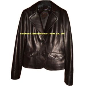 Lady′s Leather Garment (LAMB LEATHER GARMENT)