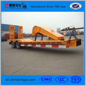 50 Tons Low Bed Semi Trailer for Machinery pictures & photos